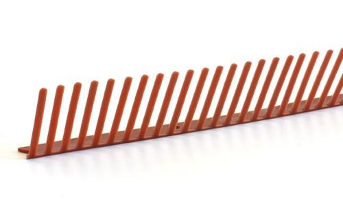 pvc traufenl ftungskamm 1000 55 rot paulus dach baustoffe. Black Bedroom Furniture Sets. Home Design Ideas