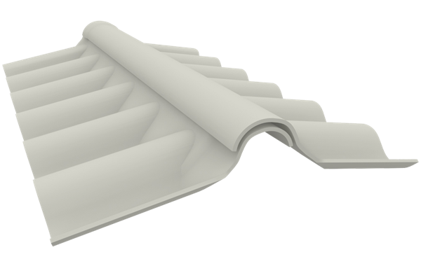 creaton p6 firsthaube 2tlg dunkelgrau paulus dach baustoffe. Black Bedroom Furniture Sets. Home Design Ideas