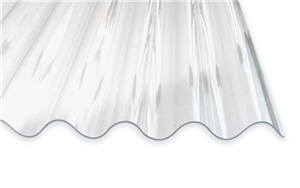 Acrylglas Wellplatte 7618 Glatt Klar 3mm Paulus Dach