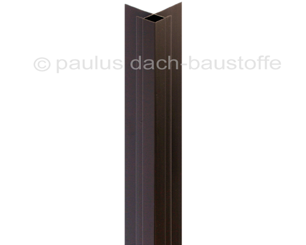 pvc au eneckprofil 14 mm braun paulus dach baustoffe. Black Bedroom Furniture Sets. Home Design Ideas