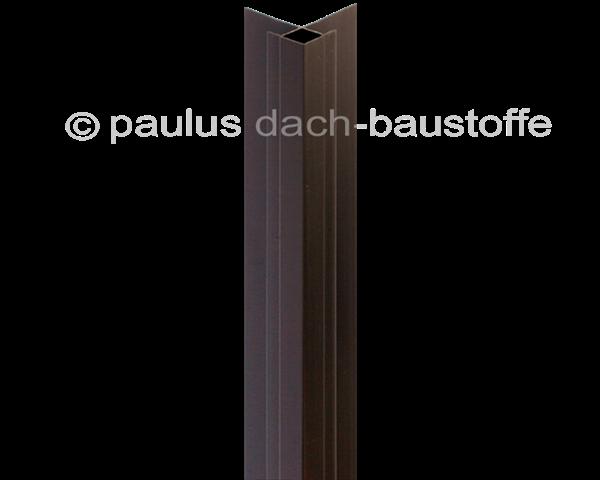 pvc au eneckprofil 14 mm braun paulus dach baustoffe. Black Bedroom Furniture Sets. Home Design Ideas
