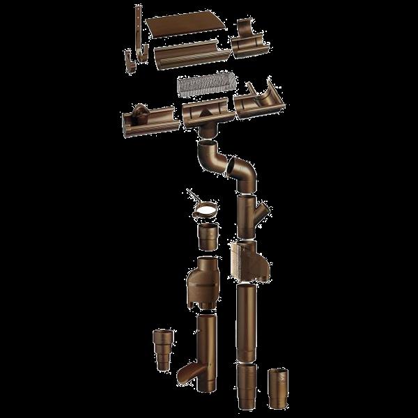 braas stabicor dachrinne rg 150 dunkelbraun paulus dach. Black Bedroom Furniture Sets. Home Design Ideas