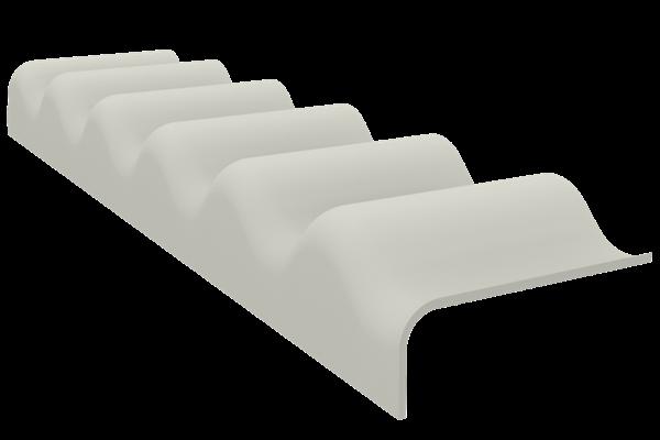 creaton p6 3 4 traufenfu st ck hellgrau paulus dach baustoffe. Black Bedroom Furniture Sets. Home Design Ideas