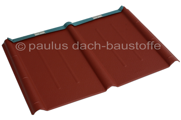 prefa dachplatte stucco oxydrot paulus dach baustoffe. Black Bedroom Furniture Sets. Home Design Ideas