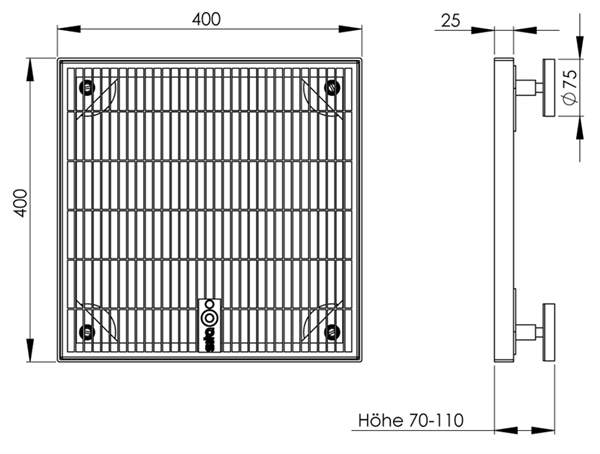 sita drain terra verzinkt 70 110 paulus dach baustoffe. Black Bedroom Furniture Sets. Home Design Ideas