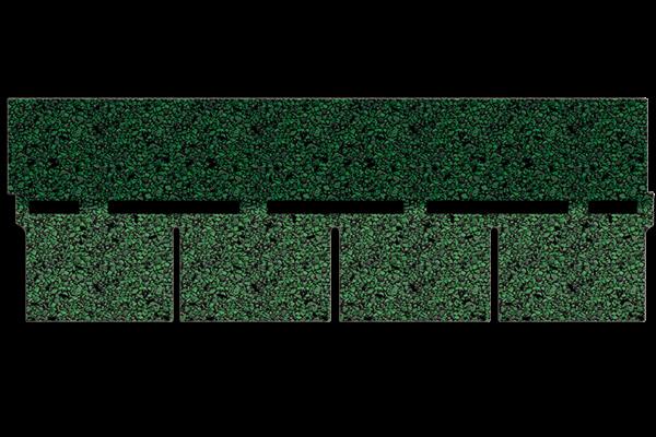 bardoline pro100 rechteckschindel gr n geflammt paulus dach baustoffe. Black Bedroom Furniture Sets. Home Design Ideas